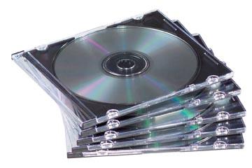 Fellowes CD/DVD-doosje Slimline, 25 stuks