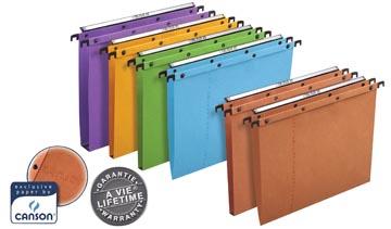 L'Oblique hangmappen voor laden AZO tussenafstand 330 mm (A4), bodem 15 mm, oranje