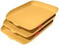 Leitz Cosy brievenbakje, geel, set van 3 stuks