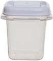 Whitefurze vershouddoos vierkant 0,125 liter, transparant met wit deksel